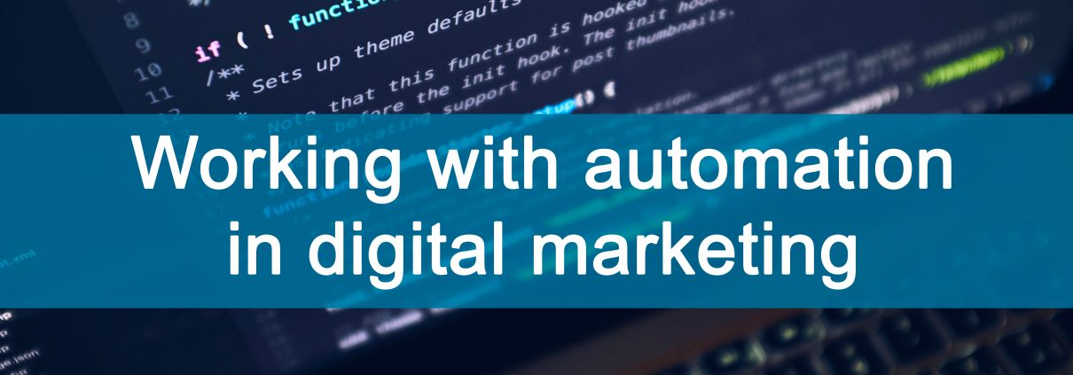 working with automation in digital marketing cover photo