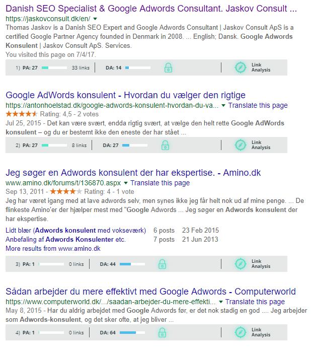 eksempel v. moz toolbar
