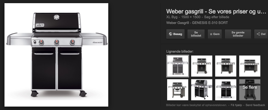 google search of gas grill